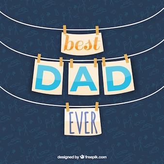 Vaderdag achtergrond met kaarten