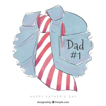 Vaderdag achtergrond met shirt en stropdas