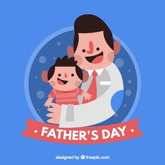 Vaderdag achtergrond met vader en zoon