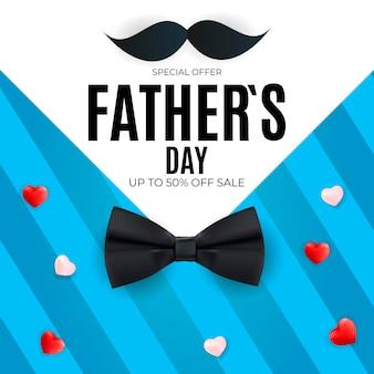Vaderdag baanner sale Premium Vector