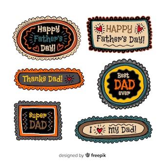 Vaderdag badge-collectie