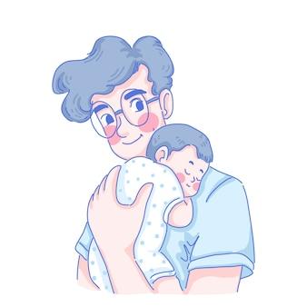 Vaderdag illustratie