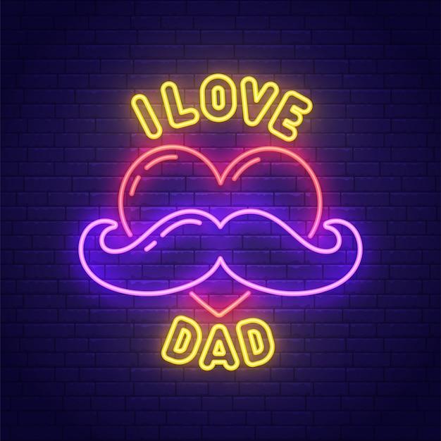Vaderdag neon teken