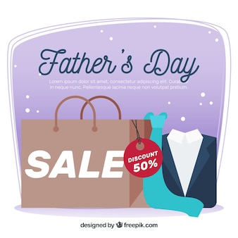Vaderdag verkoop achtergrond met boodschappentas