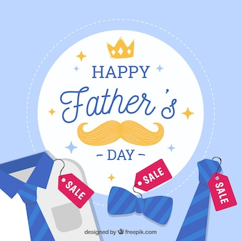 Vaderdag verkoop achtergrond met kleding