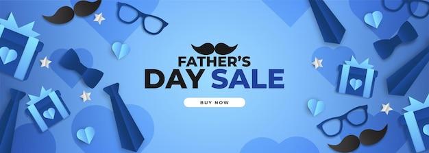 Vaderdag verkoop poster met flatlay van glazen, stropdas en geschenken