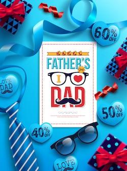 Vaderdag verkoop promotie banner
