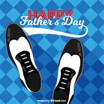 Vaders dag achtergrond met schoenen
