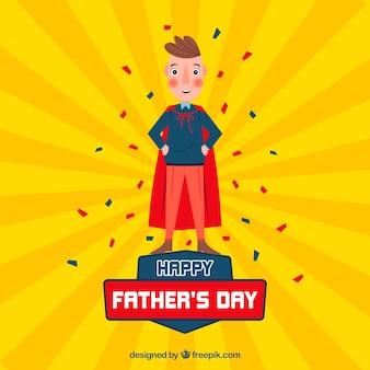 Vaders dag achtergrond met super papa