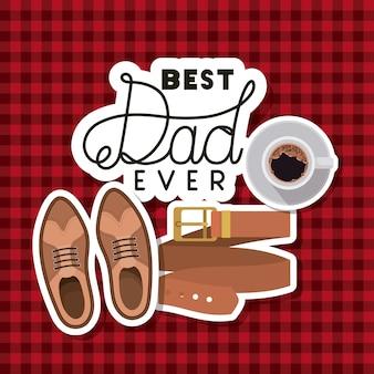 Vaders dag kaart met set accessoires