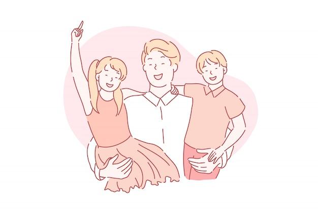 Vaders dag, vaderschap, vaderschap concept.