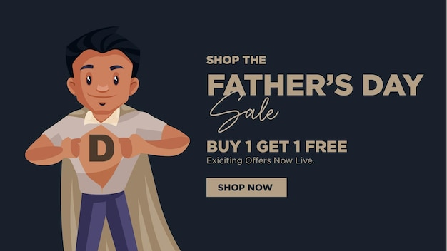 Vaders dag verkoop banner ontwerpsjabloon