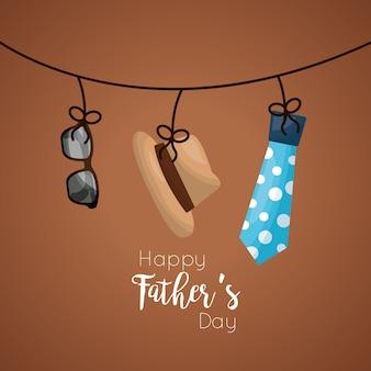 Vaders dag viering kaart