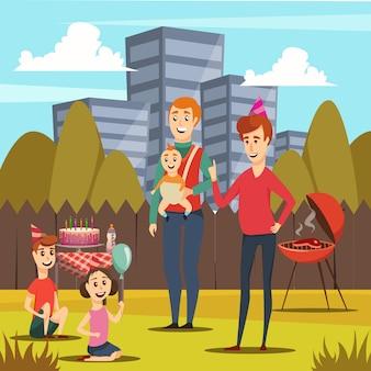 Vaders en kinderen orthogonaal