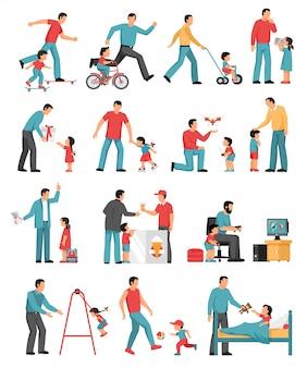 Vaderschap gekleurde set