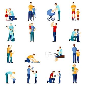Vaderschap pictogrammen instellen