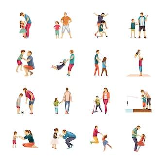 Vaderschap pictogrammen pack