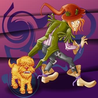 Vagabond en gekke hond.