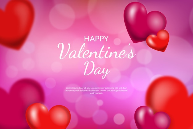 Vage de dagachtergrond van de valentijnskaart met harten