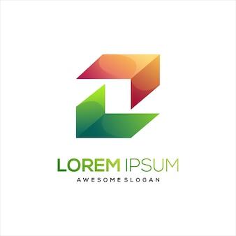 Vak logo kleurrijke abstracte illustratie