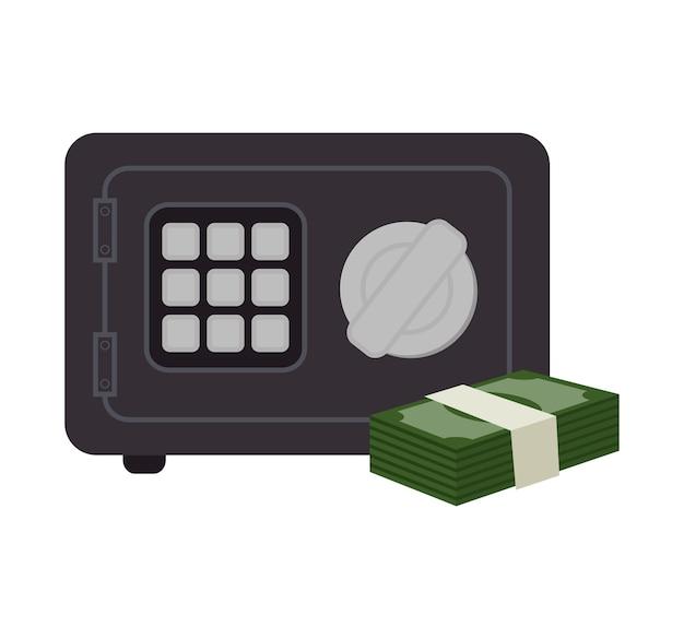 Vak veiligheid geld rekeningen pictogram