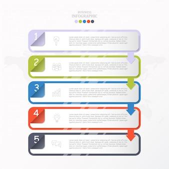 Vak voor tekst infographic sjabloon