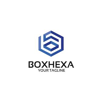Vak zeshoek - logo sjabloon