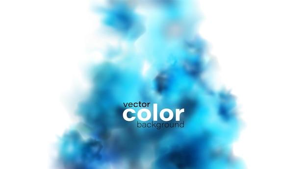 Vakantie abstract blauw poeder rook wolk ontwerpelement op donkere achtergrond. voor website, begroeting, kortingsbon, begroeting en posterontwerp