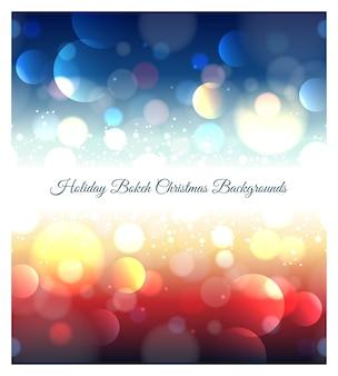 Vakantie abstracte bokeh kerstmis achtergrond. effect wazig licht, onscherpe kleuren, glanzend patroon,