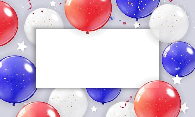 Vakantie achtergrond met ballonnen voor usa poster