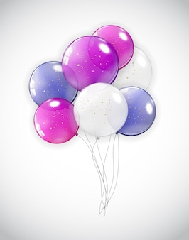 Vakantie achtergrond met ballonnen.