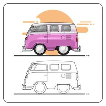 Vakantie auto gemakkelijk bewerkbaar