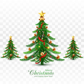 Vakantie decoratieve kerstboom wenskaart achtergrond