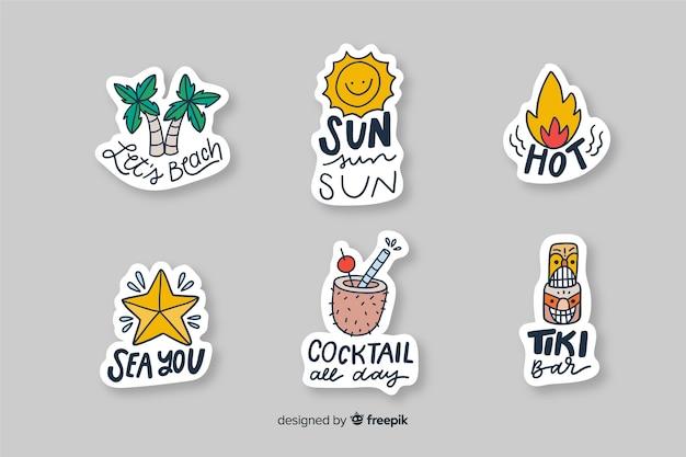 Vakantie decoratieve stickers voor foto's
