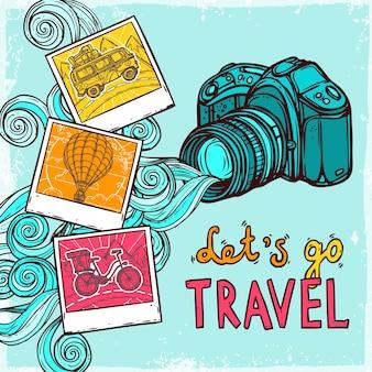 Vakantie fotoachtergrond
