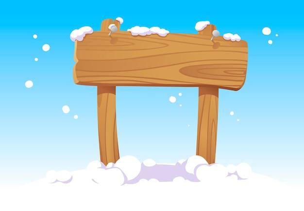 Vakantie houten bord, nieuwjaarsteken