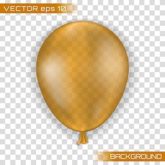 Vakantie illustratie van vliegende glanzende ballon.