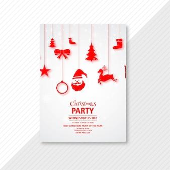 Vakantie kerstfeest flyer