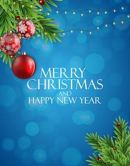 Vakantie nieuwjaar en merry christmas achtergrond. vector illustratie