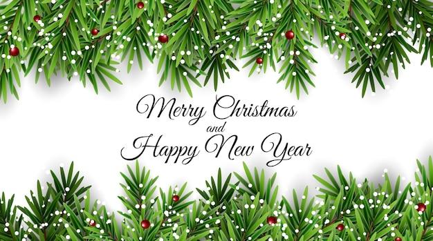 Vakantie nieuwjaar en merry christmas achtergrond.