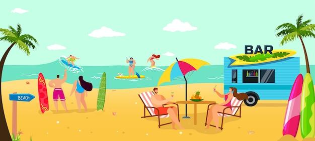 Vakantie op zomerstrand