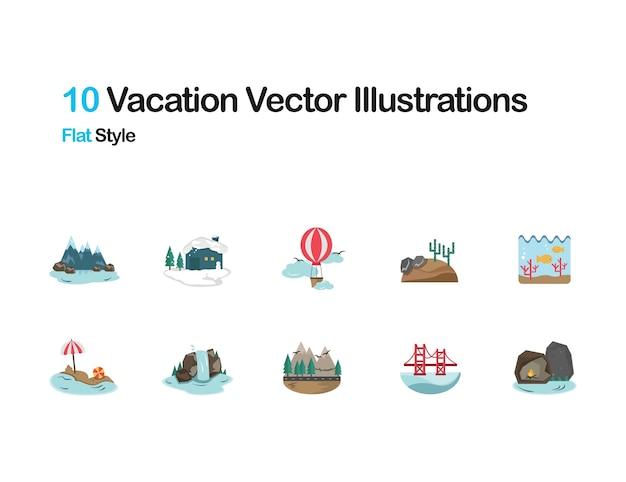 Vakantie plaat illustraties