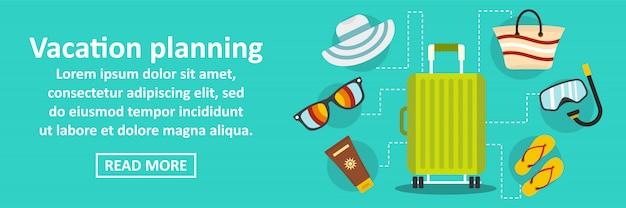 Vakantie planning banner horizontaal concept