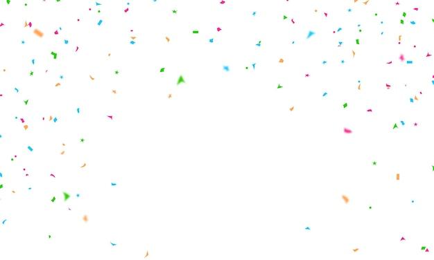 Vakantie promotie confetti ontwerpsjabloon, achtergrond viering vectorillustratie