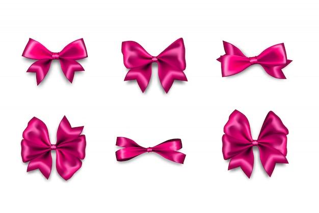 Vakantie satijn roze geschenk boog knoop lint textiel verkoop tape voor valentijnsdag