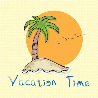 Vakantie tijd zomerzon pictogrammen