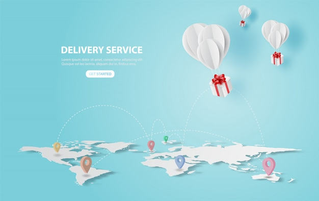 Vakantie van ballonnen geschenk vliegen in de lucht