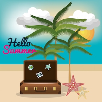 Vakantie zomer besch reis