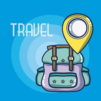 Vakanties en reizen elementen cartoons