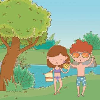 Vakanties en zomertijd buiten
